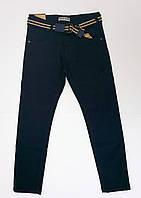 Подростковые темно-синие котоновые брюки для мальчика