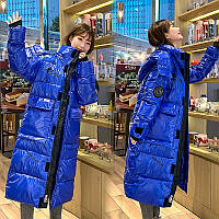 Куртка-пуховик женский длинный Oversize
