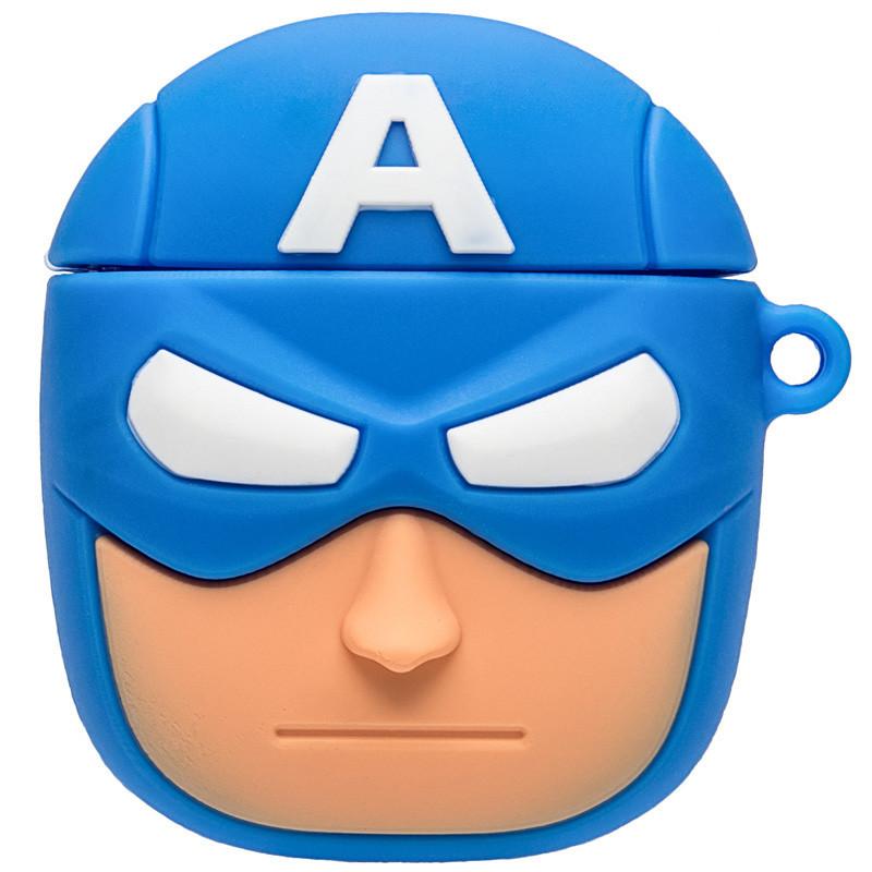 Силиконовый футляр Marvel & DC series для наушников AirPods + карабин