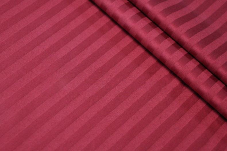 Ткань Сатин Страйп 2.20 ширина Бордо 140 плотность 100% хлопок