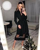 Женское красивое платье-рубашка с фатиновый юбкой, фото 1