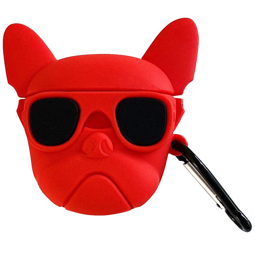 Силиконовый футляр Bulldog для наушников AirPods + карабин