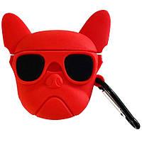 Силиконовый футляр Bulldog для наушников AirPods + карабин, фото 1