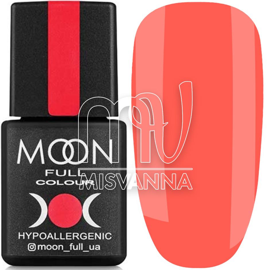 Гель лак MOON FULL Neon color Gel polish, 8 мл №706 яркий коралловый