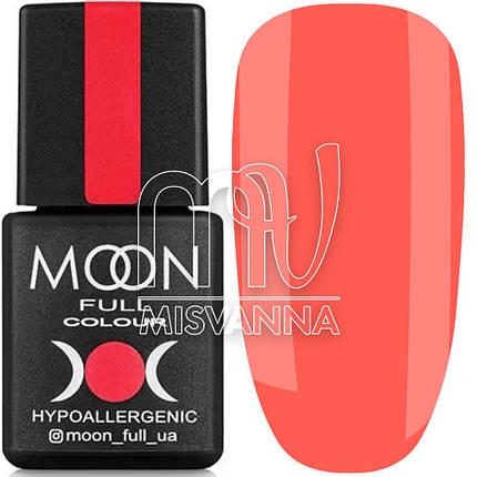 Гель лак MOON FULL Neon color Gel polish, 8 мл №706 яркий коралловый, фото 2