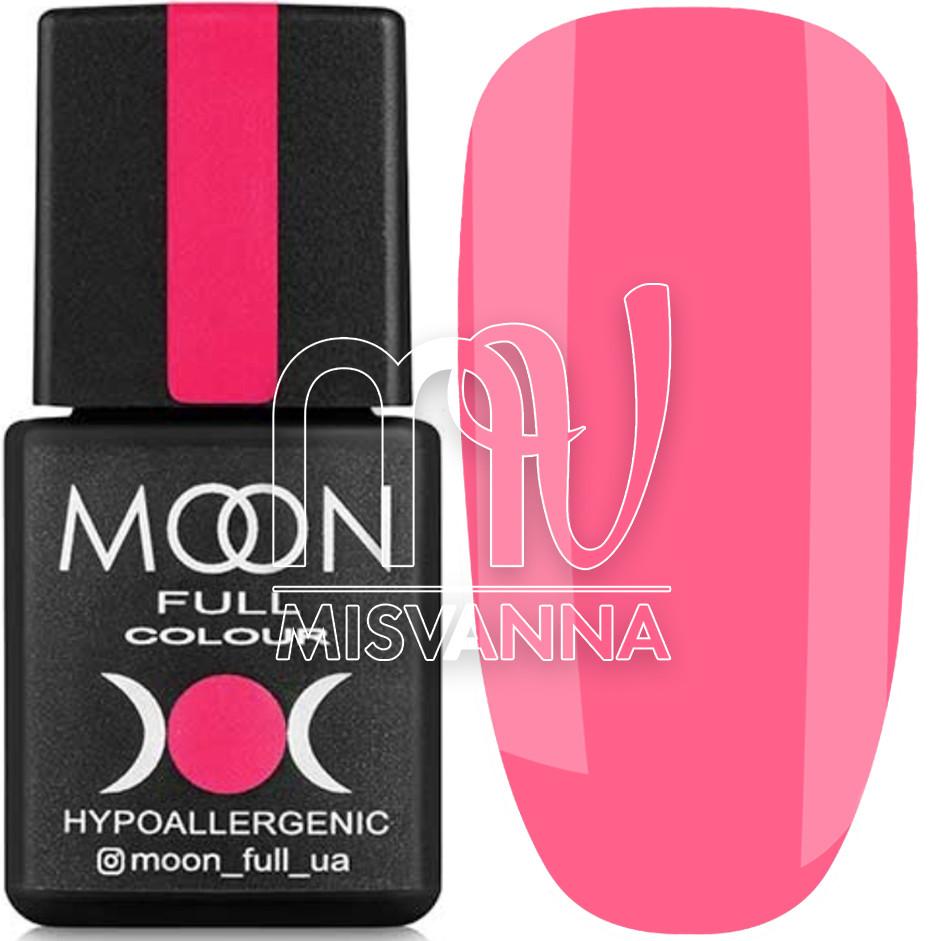 Гель лак FULL MOON Neon color Gel polish, 8 мл №709 яскравий рожевий