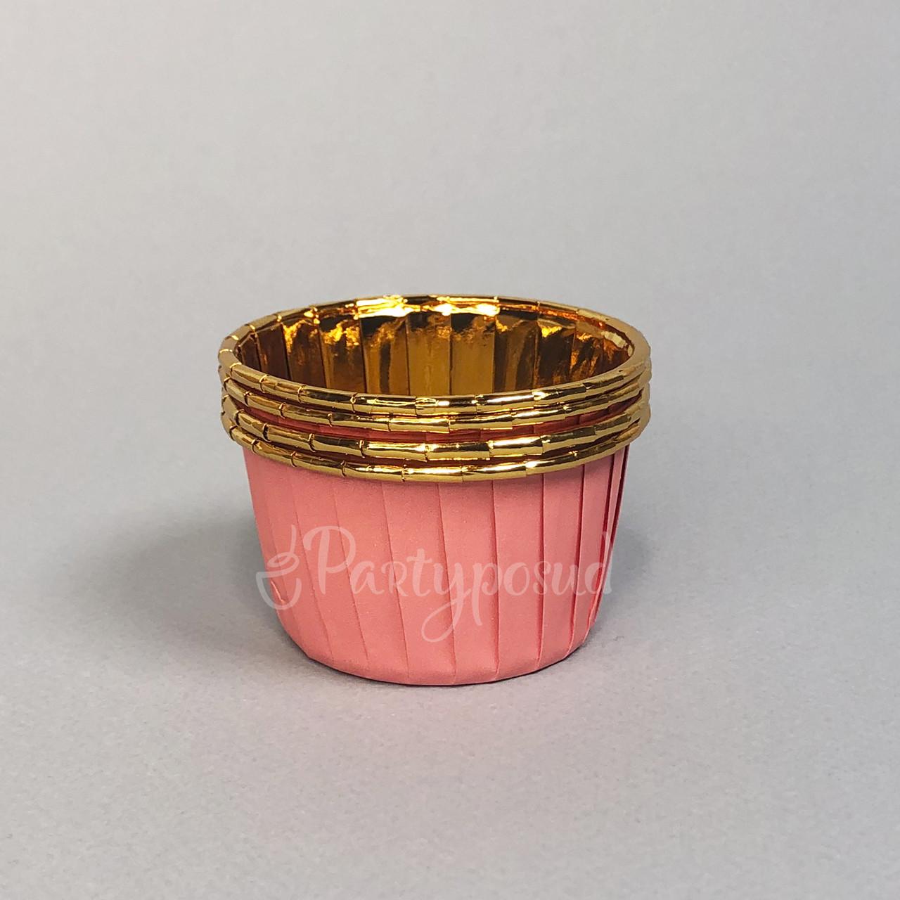Капсула розовая/золото с усиленным бортом