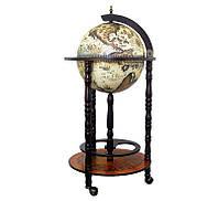 Глобус бар напольный BST 480035 44×44×88 см коричневый Вечный указатель
