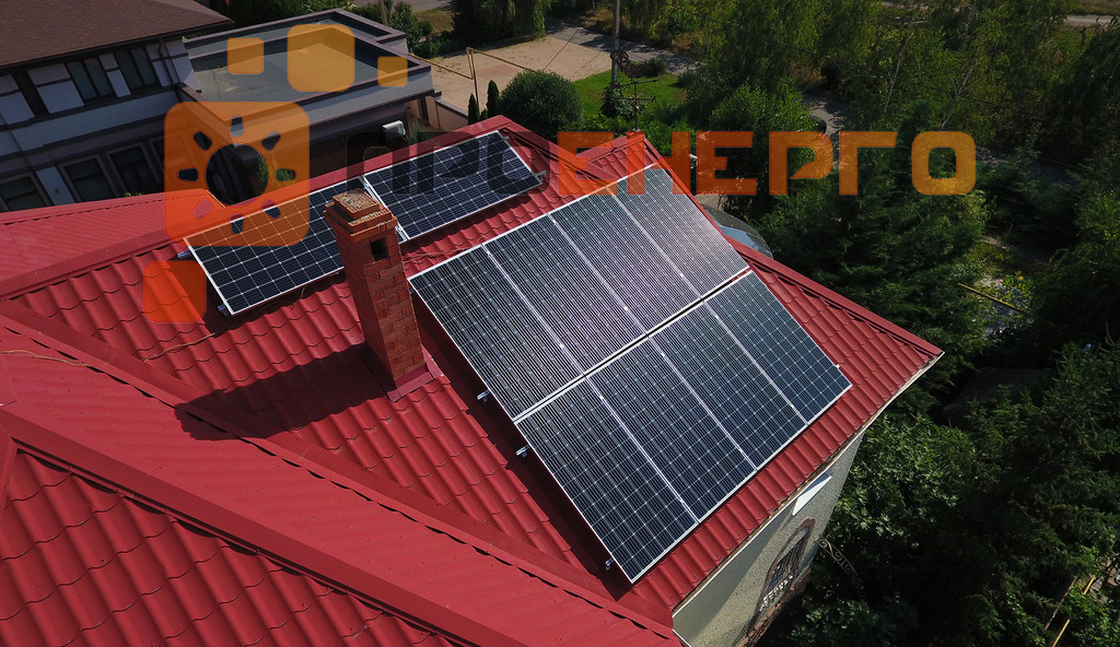 Гибридная солнечная станция 10 кВт поселок Лески