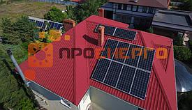 Гибридная солнечная станция 10 кВт поселок Лески 2