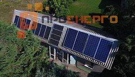 Гибридная солнечная станция 10 кВт поселок Лески 3