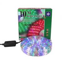 Новогодняя светодиодная гирлянда шланг 10м RGB дюралайт