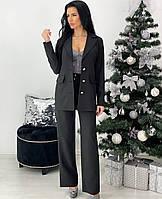 Женский чёрный костюм-тройка, фото 1