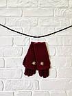 Перчатки из текстиля тачскрин Woman's heel бордовые (Ш-514-1), фото 3