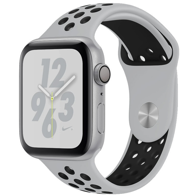 Силиконовый ремешок Sport Nike+ для Apple watch 38mm / 40mm Gray / Black