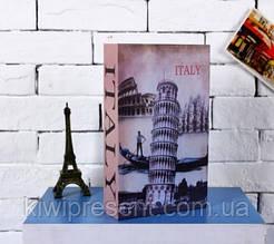 Книга сейф с замком на ключике 265 мм Лондон Париж Италия Мэрилин Монро  книжка с тайником