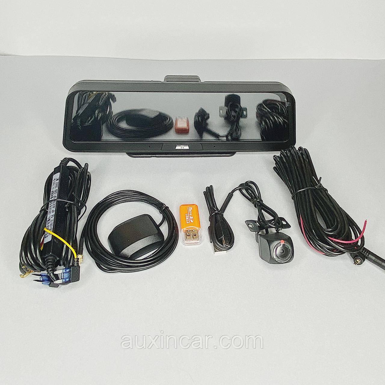 """Автомобильный видеорегистратор WiFi экран 10""""4G Android Smart Car DVR камера GPS-навигация ADAS FHD 1080P"""