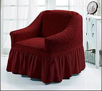 Чехол на кресло (Etek). Бордовый