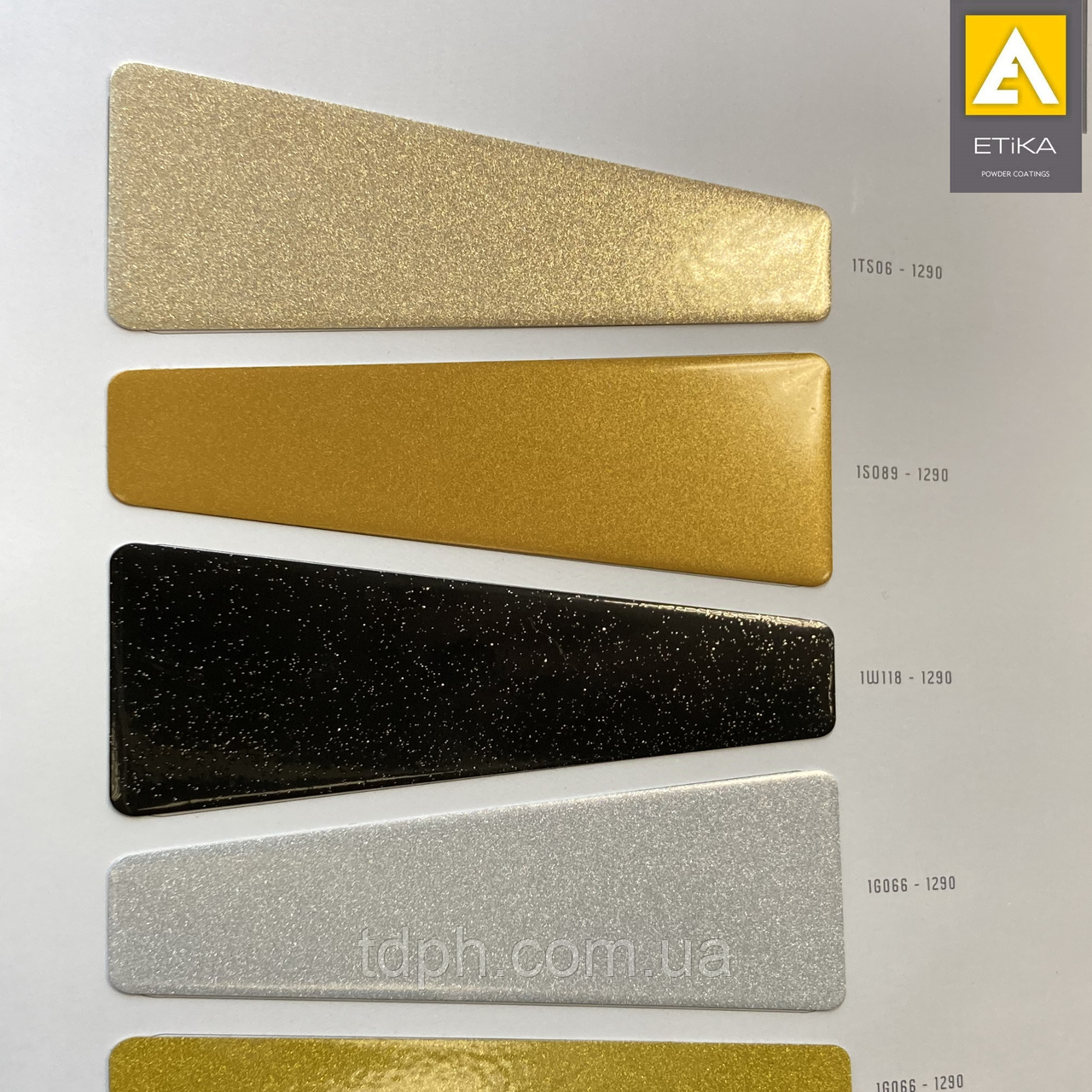 Полиэфирная порошковая краска Etika  Mettalic Gold S001