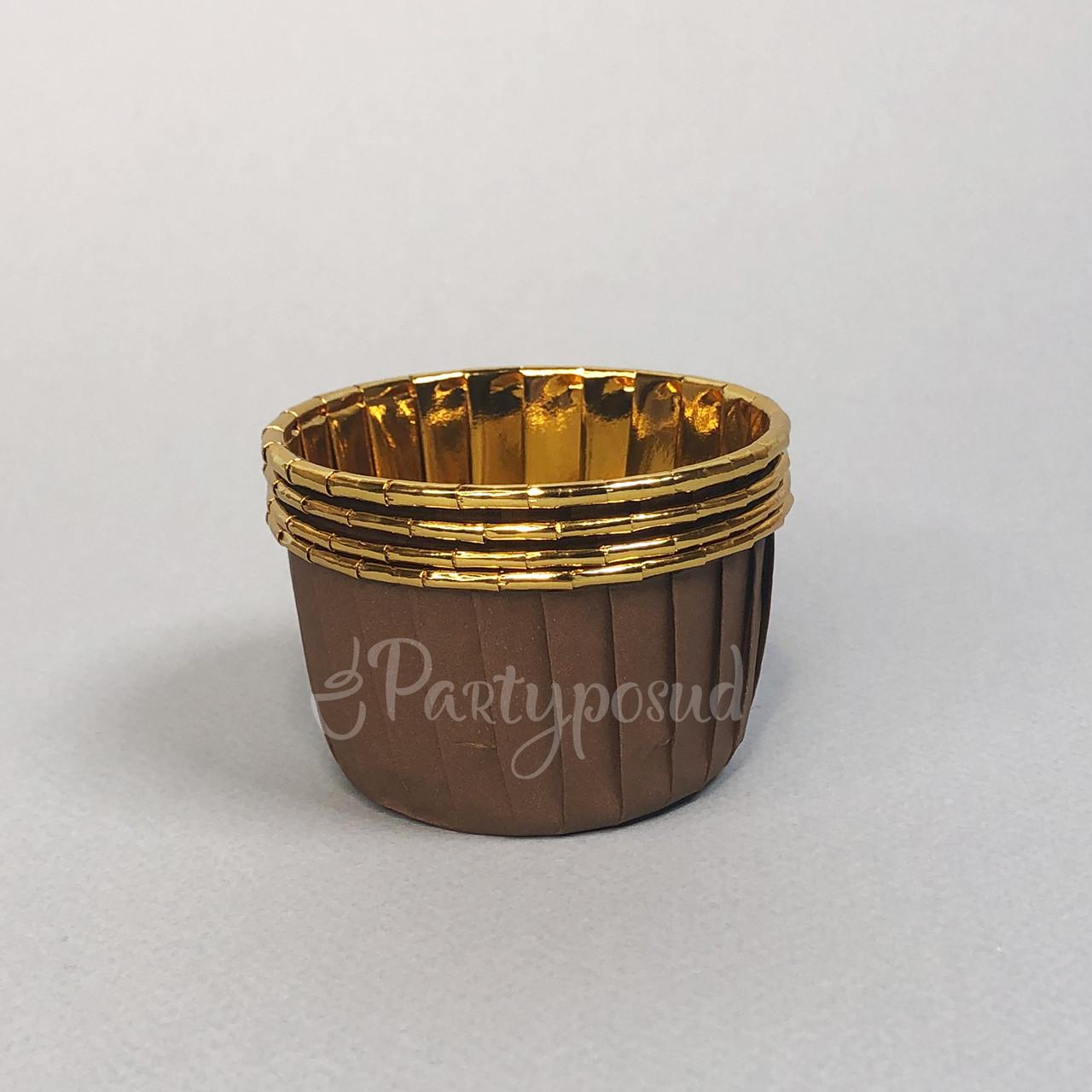 Капсула коричневая/золото с усиленным бортом