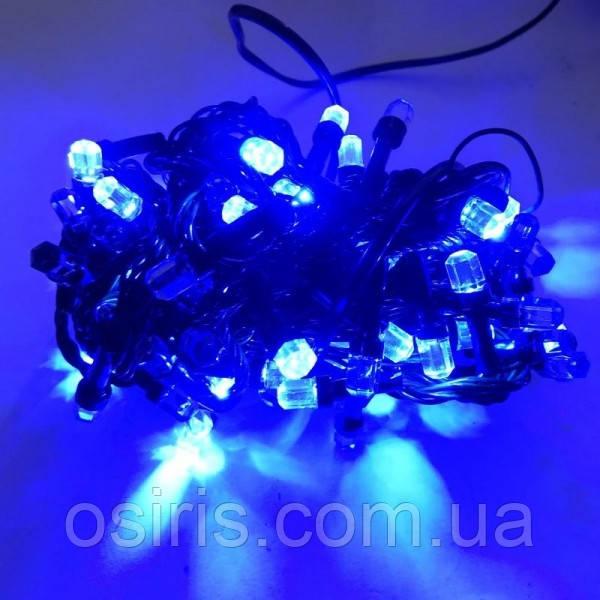 Гирлянда новогодняя светодиодная на 300 LED ламп Синяя Кристаллы 15 м с контроллером