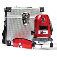 Уровень лазерный профессиональный, 5 лазерных головок, звуковая индикация Intertool MT—3011
