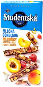 Шоколад Studentska с арахисом,желе и кусочками абрикоса 180 гр.