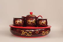 """Набор посуды для чаепития """"Золотой дракон"""" с чайной лодкой"""