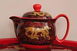 """Набор посуды для чаепития """"Золотой дракон"""" с чайной лодкой, фото 4"""