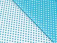 Сатин (хлопковая ткань) на белом фоне бирюзовый горох (50*160), фото 2