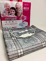 Электропростынь с сумкой электрическое одеяло 150 * 120 клетчатая серая ART-7417