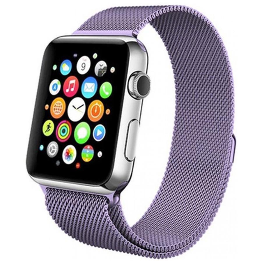 Ремешок Milanese Loop Design для Apple watch 42mm/44mm Сиреневый / Dasheen