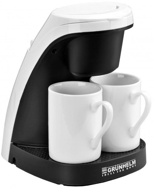 Капельная кофеварка Grunhelm GDC-04 с мощностью 0,45 кВт с объемом отсека 0,24 л