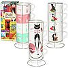 """Чашки на стойке """"Favorite cats"""" набор 4 шт. (340 мл.)"""