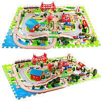 Игральный меганабор «Дорожное шоссе», 125 дет., деревянная игрушка.