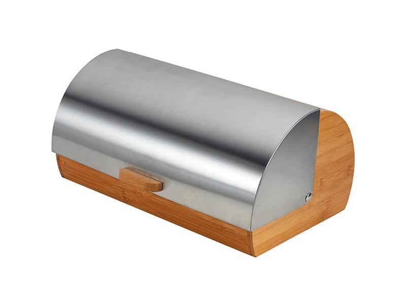 Деревянная хлебница Maestro с металлической крышкой 38х25х19см