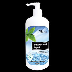 DeLaMark Средство для мытья посуды с эфирным маслом африканского лимона 0,5л.