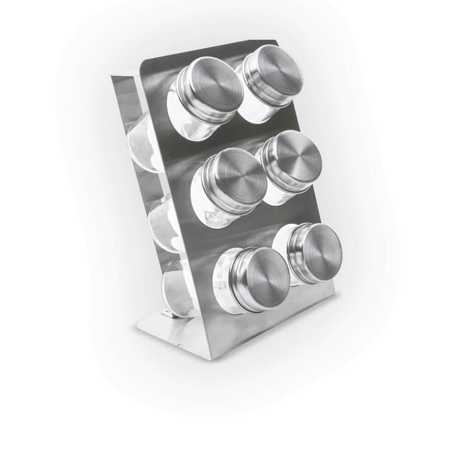 Набор банок для специй на подставке Maestro 7пр