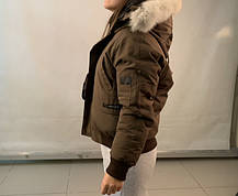Зимний подростковый короткий пуховик Canada Goose, фото 2