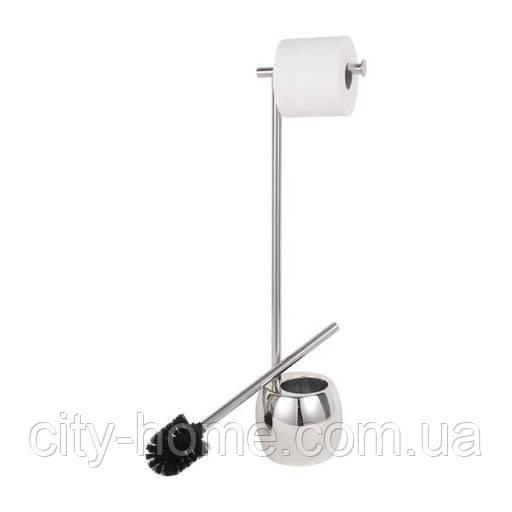 Стойка для туалета с держателем туалетной бумаги Rondo хром
