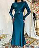 Женское вечернее шелковое платье миди, фото 9