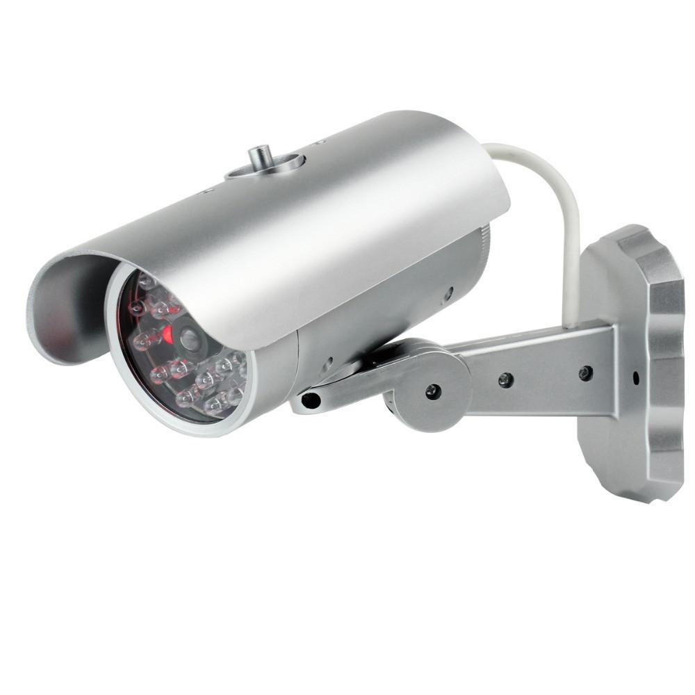 Камера відеоспостереження муляж, відеокамера обманка Security Camera Dummy (18 світлодіодні лампи)