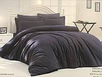 Комплект постельного белья Maison D'or New Camile Cotton Antracit хлопок 220-200 см черное