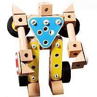 Конструктор «Трансформер», 190 дет., деревянная игрушка.