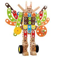 Конструктор «Трансформер», 97 дет., деревянная игрушка.