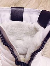 Женские спортивные сапоги Adidas Neo Зимние натуральная кожа, фото 2