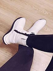 Женские спортивные сапоги Adidas Neo Зимние натуральная кожа, фото 3