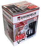 Капельная кофеварка Grunhelm GDC-06 с мощностью 0,6 кВт и объемом отсека 0,6 л, фото 6