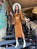 Модный женский костюм юбка + кроп топ на затяжках, фото 3