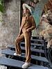 Модный женский велюровый костюм двойка (кофта и свободные штаны), фото 2